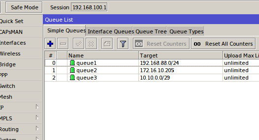 Mikrotik Simple Queue Target Examples