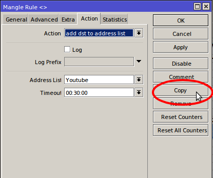 Copying mangle rule with Mikrotik + Winbox