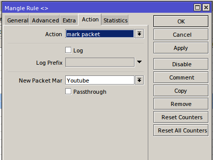 Marking Youtube IP list traffic packets