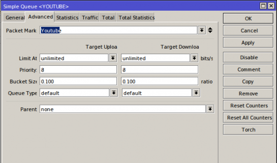 Choosing packet mark for Simple Queue rule